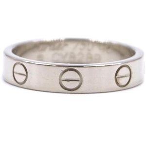 Cartier White Gold Mini Love Ring - Size 49/5.25